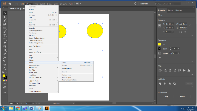 Step 8.1 (Blend Tool in Illustrator)