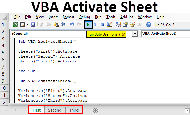 VBA Activate Sheet | How to Activate Sheet in Excel Using ...