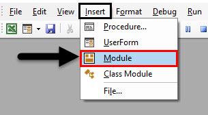Insert a module