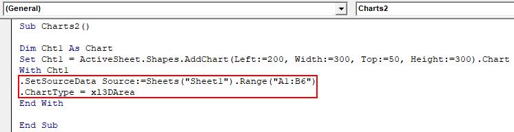 VBA Charts Example 2-6