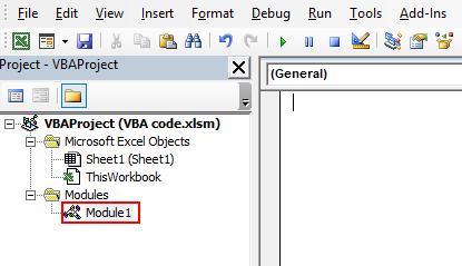 VBA Code Example 1-1
