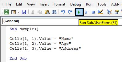 VBA Code Example 1-4