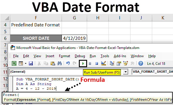 VBA Date Format | How to Use Excel VBA Date Format with Examples