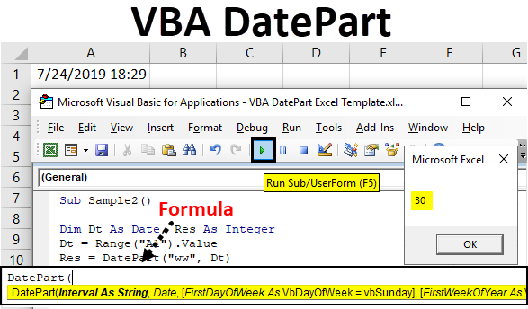 VBA DatePart | How to Use DatePart Function in Excel VBA? (Examples)