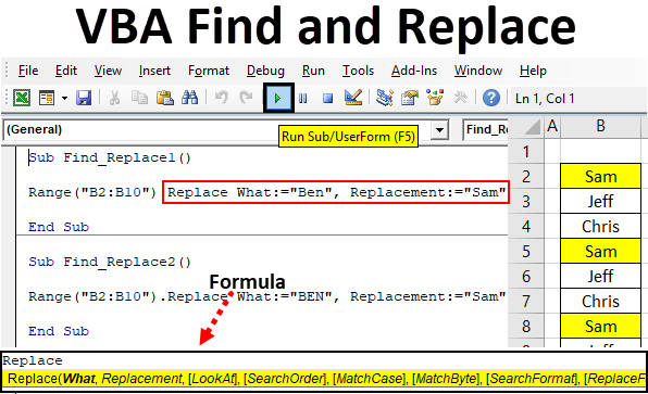 VBA Find and Replace