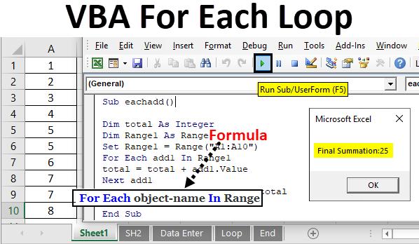VBA For Each Loop