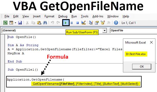 VBA GetOpenFileName   How to Use GetOpenFileName in Excel VBA?