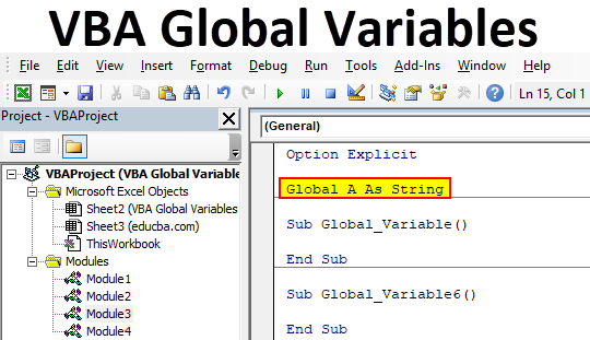 VBA Global Variables