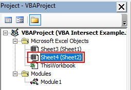 VBA Intersect Example 2-1.1