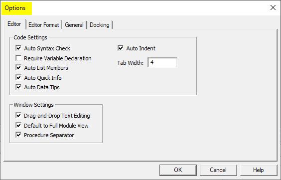 VBA Option Explicit 4