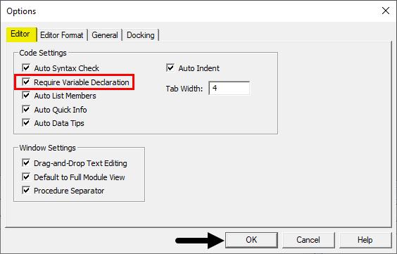 VBA Option Explicit 5