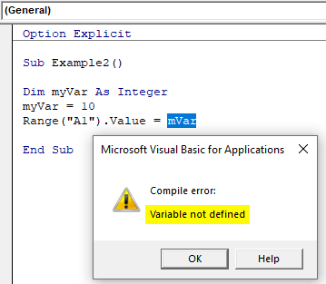 Variable not defined error