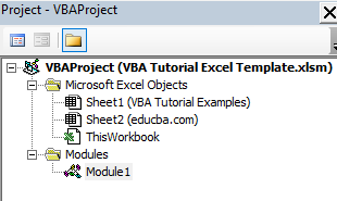 VBA Tutorial Example 2-2