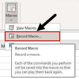 Record Macro
