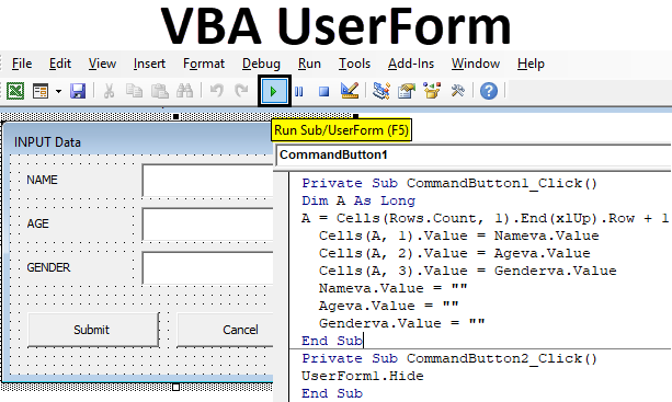 VBA UserForm | How to Create UserForm in Excel Using VBA Code?