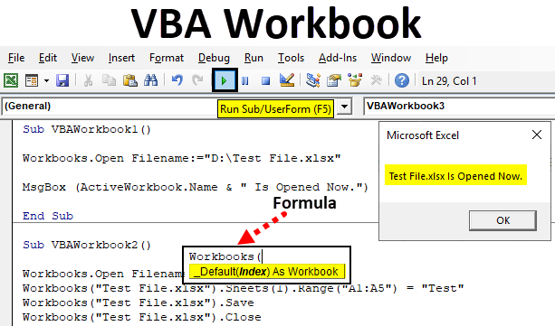 VBA Workbook | How to Use Workbook Object in Excel VBA?