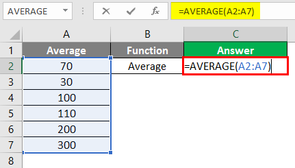 Excel Calculations -average function 2