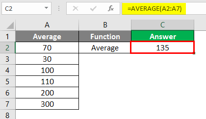 Excel Calculations -average function 3