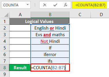 COUNTA Function in Excel 4-1