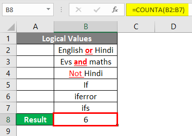 COUNTA Function in Excel 4-2