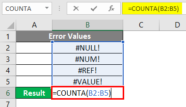 COUNTA Function in Excel 5-1