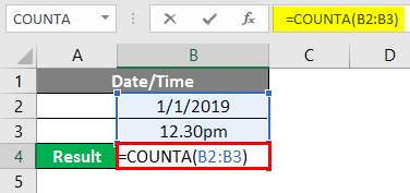 COUNTA Function in Excel 6-1