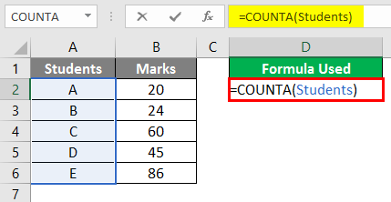 Count Formula with Name Box - 2