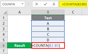 COUNTA Function in Excel 2-1