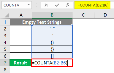 COUNTA Function in Excel 7-1