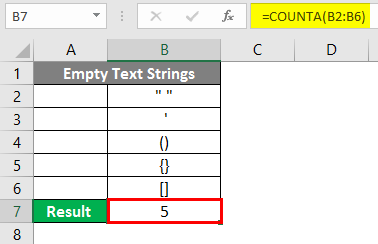 COUNTA Function in Excel 7-2