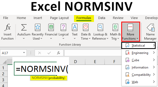 Excel NORMSINV