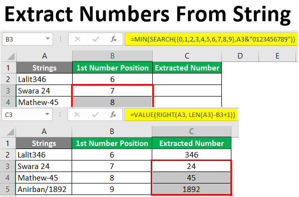 extract numbers from string