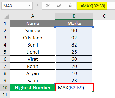 MAX Function Using Reference 2