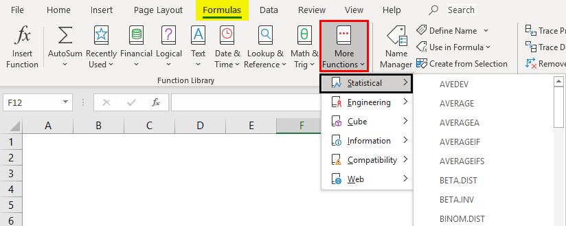 max formula in excel - Method 3