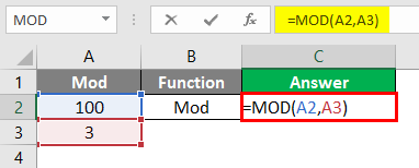 Excel Calculations -mod function 2