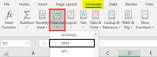 NPER Function in Excel 1-1