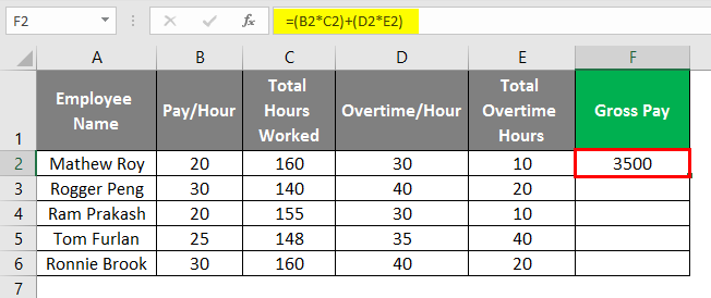 payroll in excel 1-5