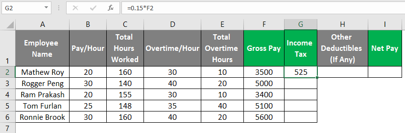 payroll in excel 1-8