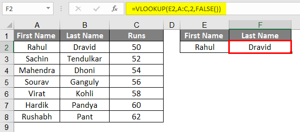 vlookup example 1-3