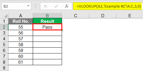 vlookup example 1-4