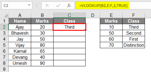 vlookup examples 1