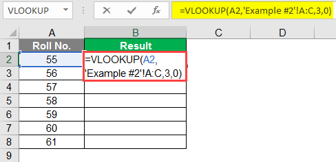 Vlookup from different Sheet 1