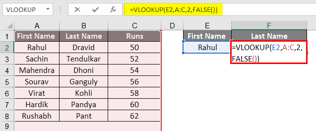vlookup examples in excel 1-2