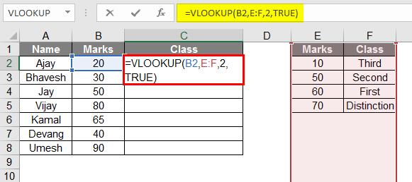 Class Using Approx Match 1