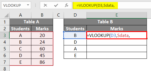 VLOOKUP with Name Box - 3