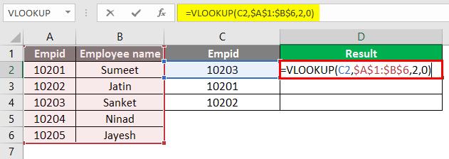 vlookup function 1