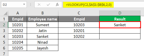 vlookup function 2