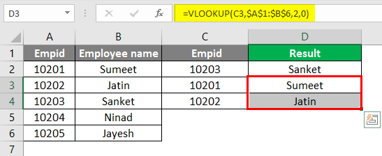vlookup function 3