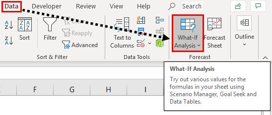 what if analysis tab