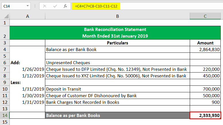 Bank Reconciliation Formula-2.3